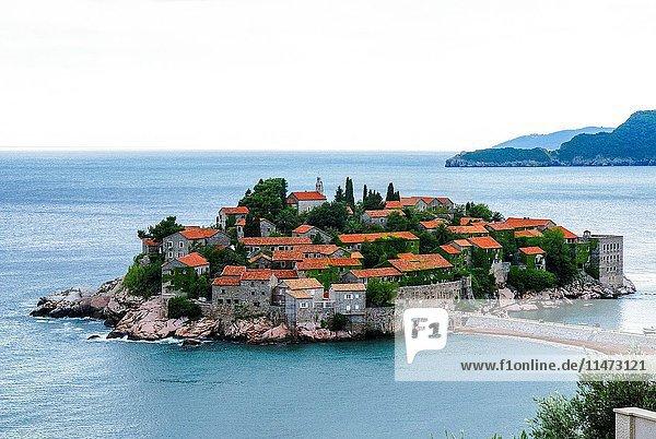 Sveti Stefan (St. Stefan) near Budva,  Montenegro.