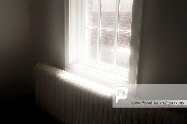 Sunlight entering through window.