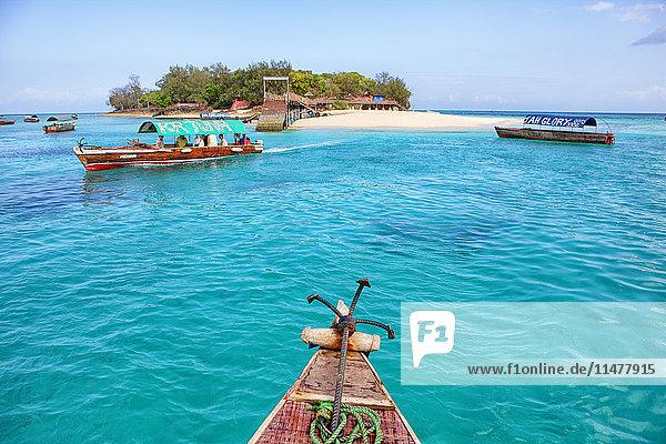 Tanzania  Zanzibar Island  view to Prison Island