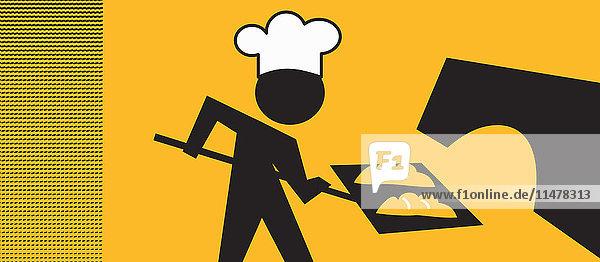 Piktogramm eines Bäckers