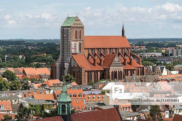 Church St. Nicholas  Hanseatic City of Wismar  Mecklenburg-Vorpommern  Germany..