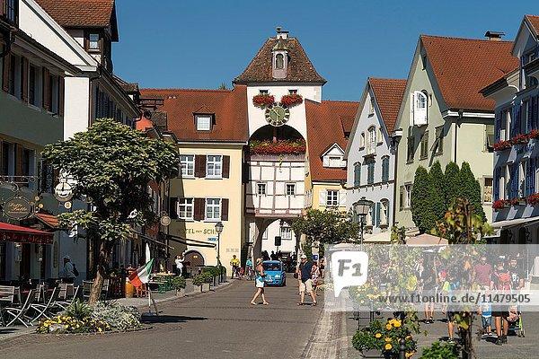Medieval town-gate Unterstadttor in Meersburg at Lake Constance  Baden-Württemberg  Germany .