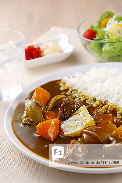 Japanese style curry and rice