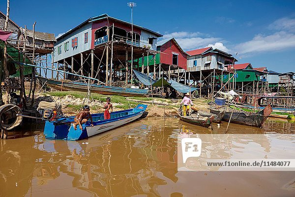 Floating village of Kompong Phluk  Siem Reap  Cambodia.