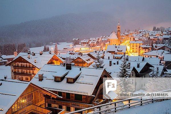 Early November snow in Sappada  Veneto  Italy. Dolomites.