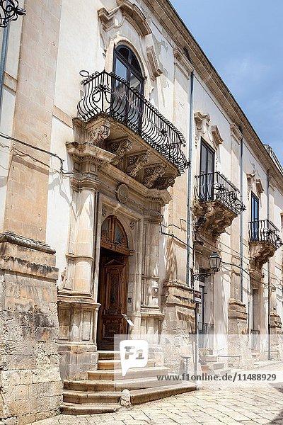 Palazzo Spadaro  Via Francesco Mormino Penna  Scicli  Sicily  Italy.