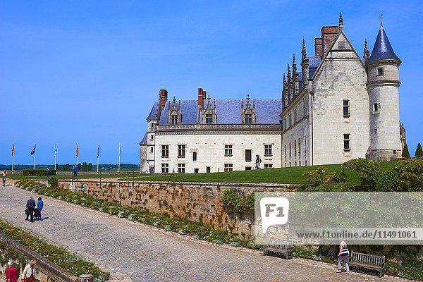 Amboise  Castle  Gardens  Chateau d'Amboise  Amboise Castle. Indre-et- Loire  Loire Valley  Loire River  UNESCO World Heritage Site  France.