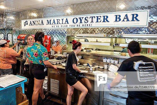 Florida  Bradenton  Ellenton  Anna Maria Oyster Bar  restaurant  kitchen  employees