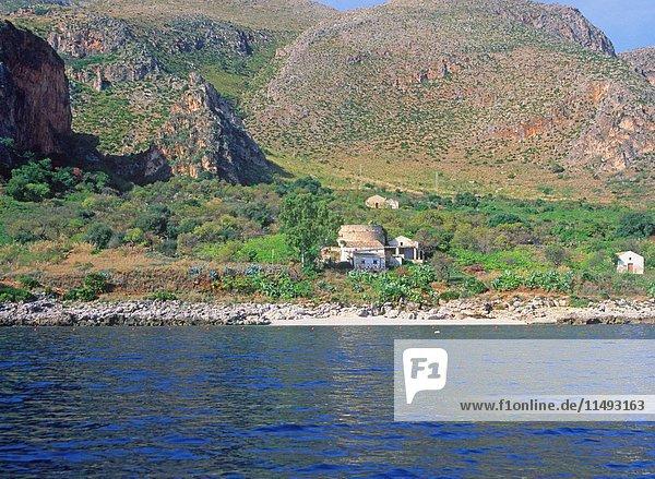 Zingaro nature reserve  Scopello  Trapani province  Sicily  Italy