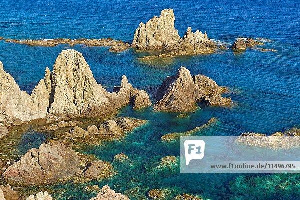 Cabo de Gata  Reef of the Mermaids  Cabo de Gata-Nijar Natural Park  Arrecife de las Sirenas  Biosphere Reserve  Almeria province  Andalucia  Spain.