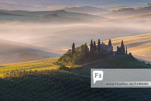 Podere Belvedere a Farmhouse in Val d'Orcia  Tuscan - Italy  Europe.