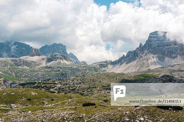 Trentino Alto Adige  Italy  Europe. Park of the Tre Cime di Lavaredo.