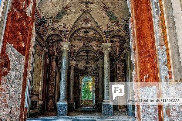 Novi Ligure  Piedmont  Italy  Abandoned house 1800.