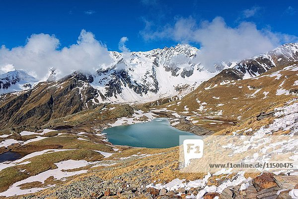 Europe Italy Lombardy  mountain landscape in Gavia pass  province of Brescia.