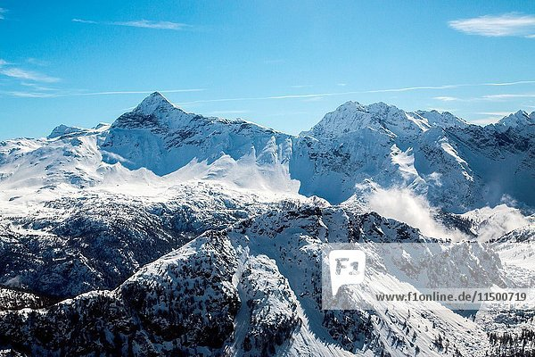 Aerial view of the area surrounding Pizzo Scalino in winter  Valmalenco  Valtellina  Lombardy Italy Europe.