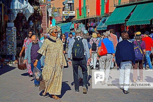 Place Djema el Fna  Marakesh  Morocco.