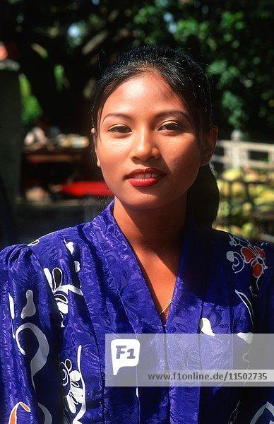 Malaysia Malacca beautiful woman in native dress age 20s
