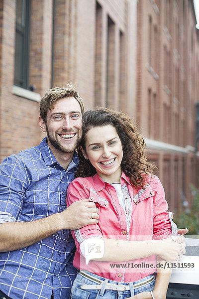 Paar im Freien  Portrait