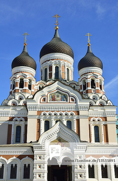 Alexander Nevsky Cathedral  dating back to the 19th century  in Toompea Hill. Old Town of Tallinn  a Unesco World Heritage Site. Estonia