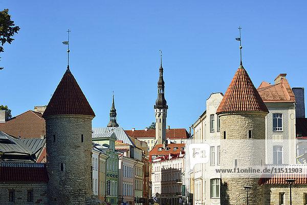 Viru street in the Old Town of Tallinn  a Unesco World Heritage Site. Tallinn  Estonia