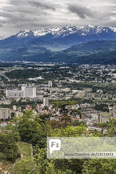 View from la Bastille  Grenoble  Rhone-Alpes region  department of Isere  France