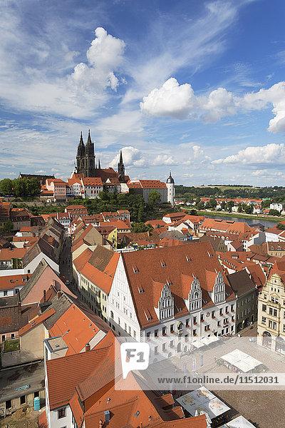 View of Meissen  Saxony  Germany