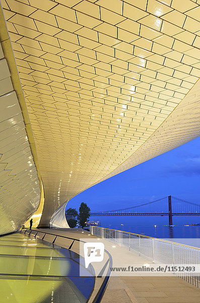 The MAAT (Museum of Art  Architecture and Technology)  bordering the Tagus river  was designed by British architect Amanda Levete. Lisbon  Portugal