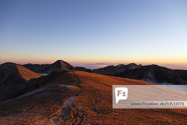 Mount Vihren  2945m  Pirin National Park  UNESCO World Heritage Site  Bansko  Bulgaria  Europe
