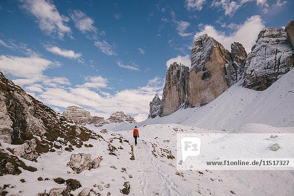 Gebiet der Drei Zinnen  Südtirol  Dolomiten  Italien