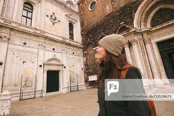 Woman sightseeing  Venice  Italy