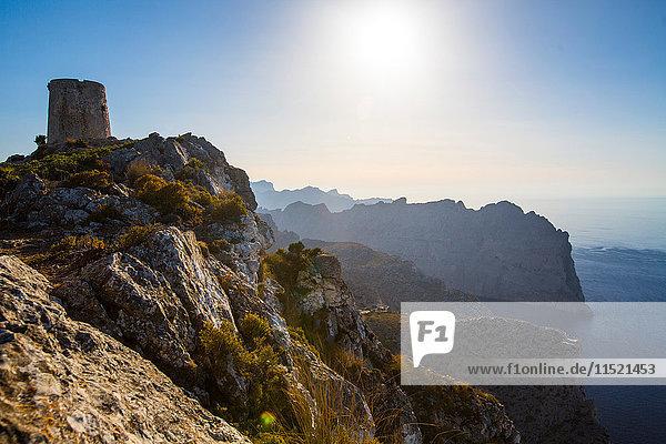 Talaia d'Albercutx im La Tramuntana-Gebirge  Mallorca  Spanien