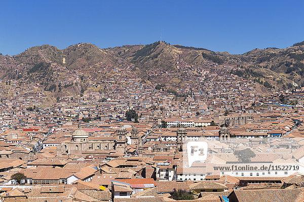 Peru  Anden  Cusco  Stadtbild von Mirador de San Blas aus gesehen