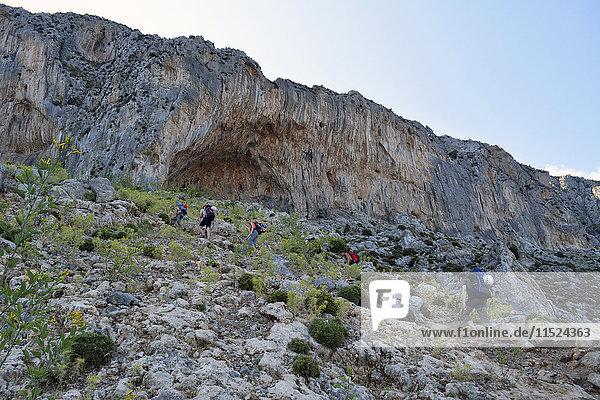 Griechenland  Kalymnos  Wanderung zur Felswand