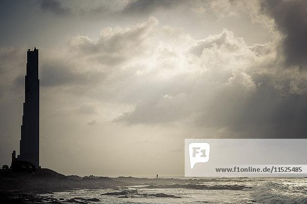 Spanien  Teneriffa  Blick auf die Silhouette von Punta del Hidalgo