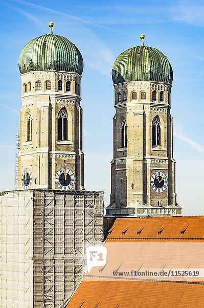 Deutschland  München  Blick auf die Türme der Frauenkirche Deutschland, München, Blick auf die Türme der Frauenkirche