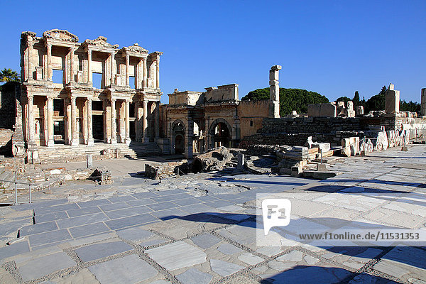 Turkey  province of Izmir  Selcuk  archeological site of Ephesus  Celsus library