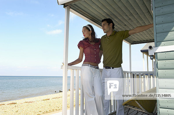 Portrait of Couple at Beach House