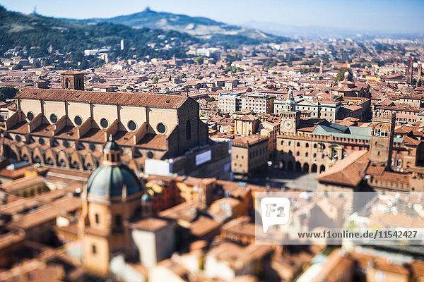 Italy  Emilia-Romagna  Bologna  cityscape  tilt-shift
