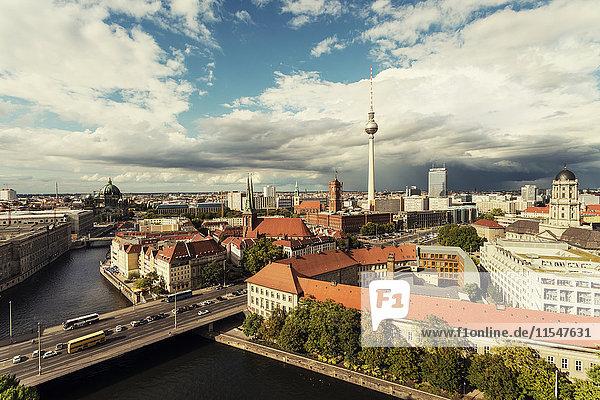 Germany  Berlin-Mitte  Alexanderplatz  Nikolaiviertel and Spittelmarkt  Berlin TV Tower