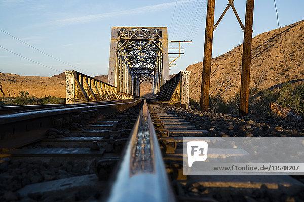 USA  Nevada  Rails in the desert