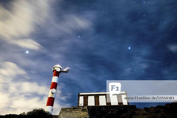 Teneriffa  Leuchtturm bei Nacht Teneriffa, Leuchtturm bei Nacht