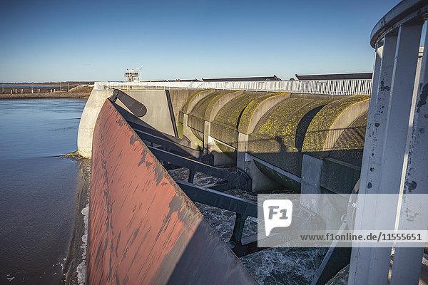 Flood barrage  Schleswig-Holstein  Germany  Europe