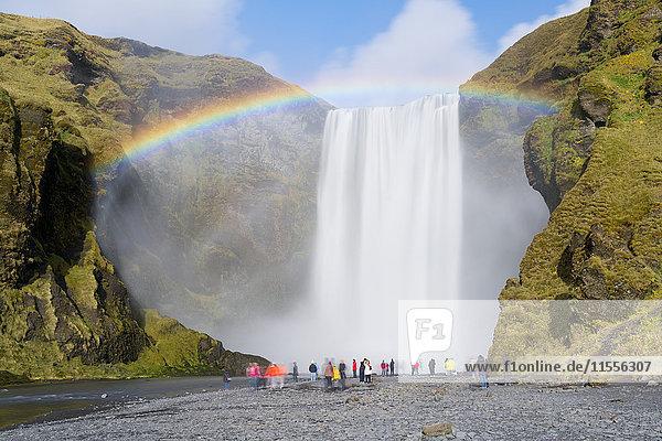 Skogar Waterfall  Skogar  Iceland  Polar Regions