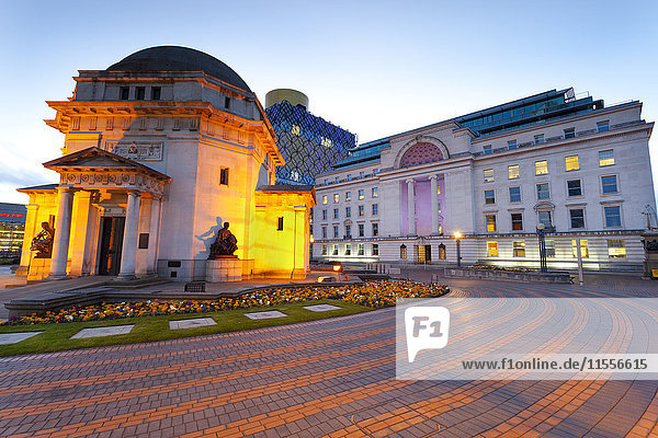 Centenary Square  Hall of Memory  Baskerville House  the New Library  Birmingham  England  United Kingdom  Europe