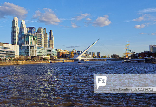 View of Puerto Madero  City of Buenos Aires  Buenos Aires Province  Argentina  South America