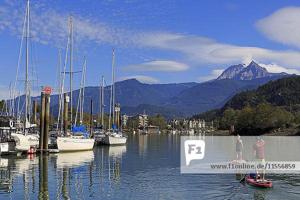 Marina  Squamish  Vancouver  British Columbia  Canada  North America