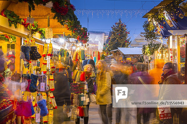 Christmas Market on Waisenhausplatz  Bern  Jungfrau region  Bernese Oberland  Swiss Alps  Switzerland  Europe