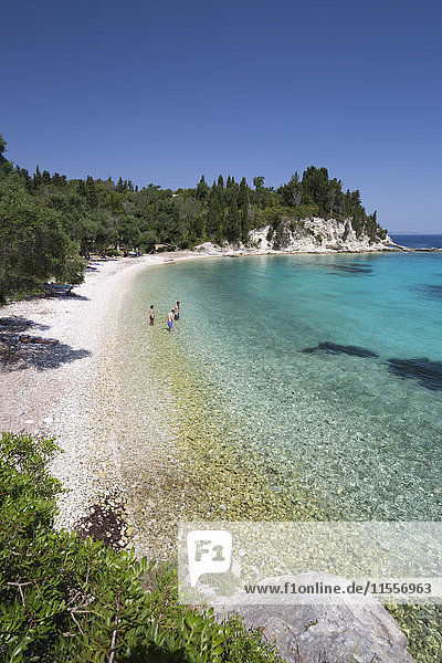 Marmaria beach on east coast  Paxos  Ionian Islands  Greek Islands  Greece  Europe