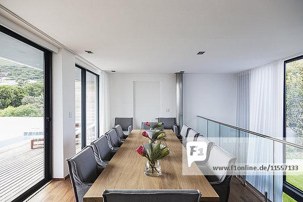 Modern luxury home showcase interior dining room