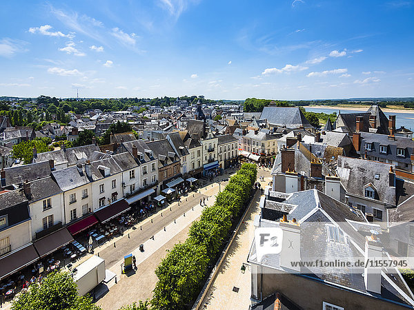 France  Amboise  view to the old town from above